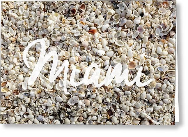 Miami Seashells Greeting Card by Edward Fielding