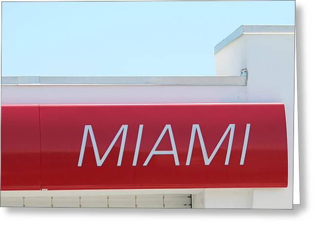 Miami Sign Greeting Card