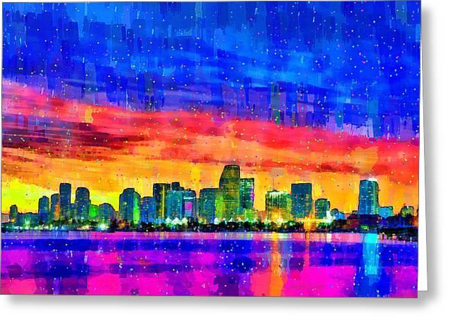 Miami Skyline 149 - Da Greeting Card