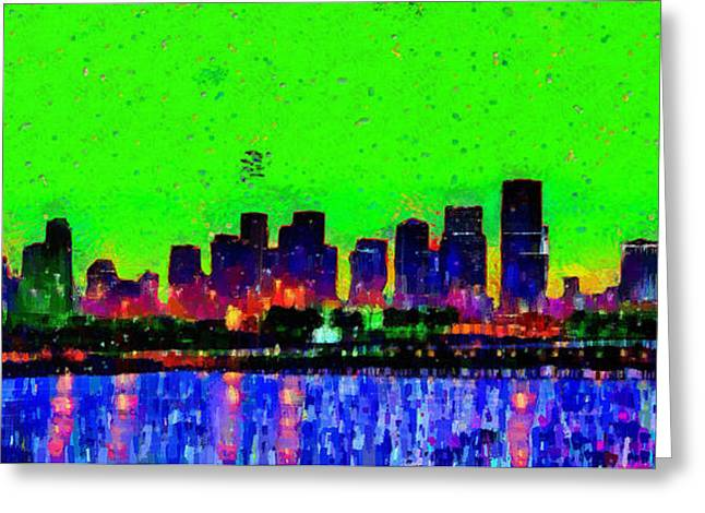 Miami Skyline 27 - Pa Greeting Card