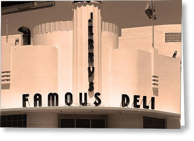 Miami South Beach - Art Deco 2 Greeting Card