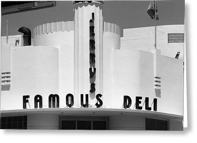 Miami South Beach - Art Deco 78 Greeting Card by Frank Romeo
