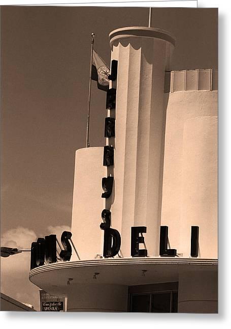 Miami South Beach - Art Deco Greeting Card by Frank Romeo
