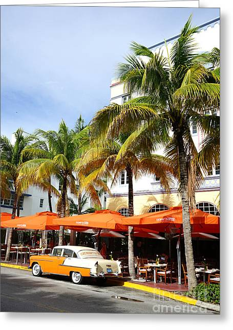 Miami South Beach Ocean Drive 8 Greeting Card