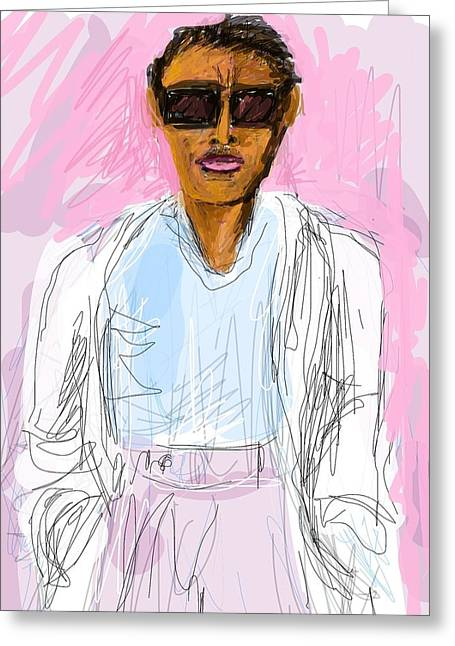 Miami Vice Greeting Card by Richard VanSciver