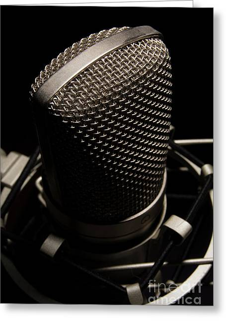 Greeting Card featuring the photograph Mic by Brian Jones
