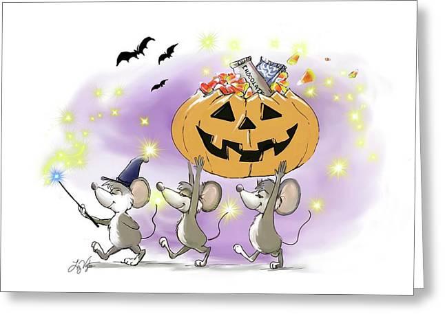 Mic, Mac, And Moe's Happy Halloween Greeting Card