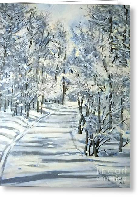 Micas Mile- Sundance Nordic Center Greeting Card