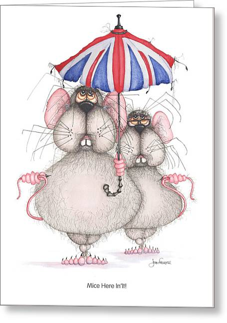 Mice Here In'it Greeting Card by John Faulkner