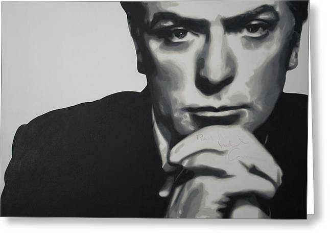 Michael Caine 2013 Greeting Card by Luis Ludzska