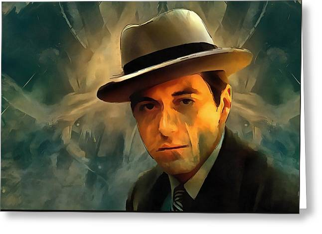 Michael Corleone Greeting Card by Dan Sproul