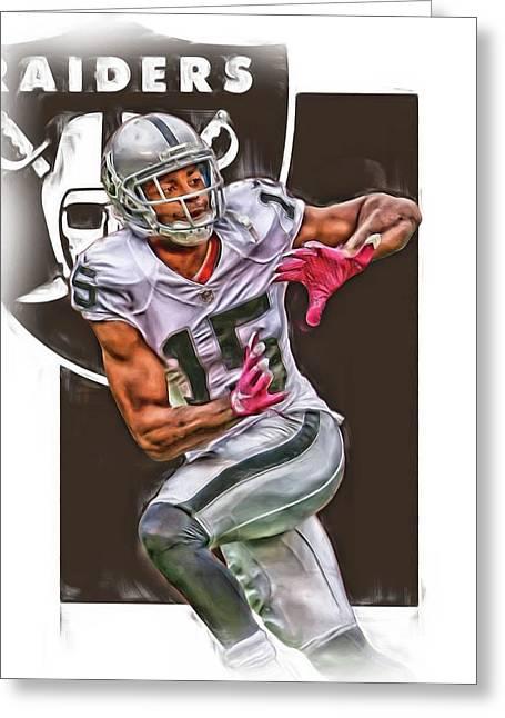 Michael Crabtree Oakland Raiders Greeting Card