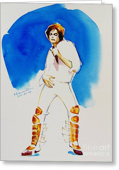 Michael Jackson Drawing Greeting Cards - Michael Jackson - 30th Anniversary Greeting Card by Hitomi Osanai