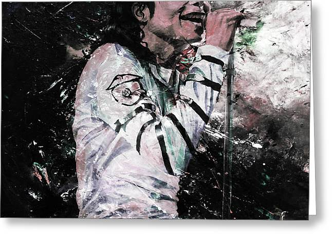 Michael Jackson 01  Greeting Card by Gull G
