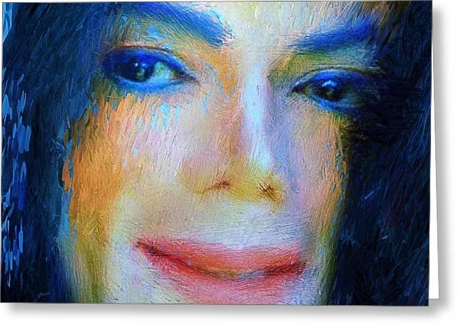 Michael Jackson 04 Greeting Card by Yury Malkov