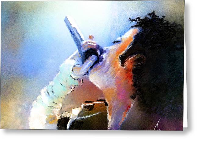 Michael Jackson 06 Greeting Card by Miki De Goodaboom