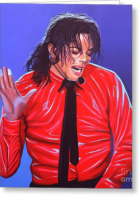Michael Jackson 2 Greeting Card by Paul Meijering