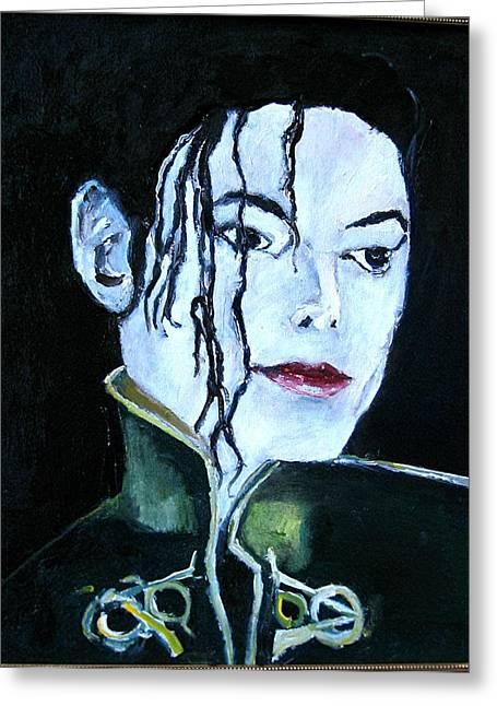 Michael Jackson 2 Greeting Card by Udi Peled