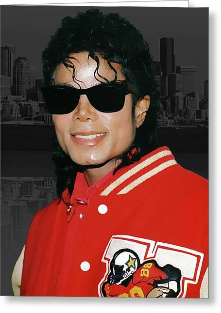 Michael Jackson Greeting Card by Anthony Dezenzio