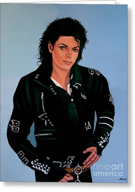 Michael Jackson Bad Greeting Card by Paul Meijering