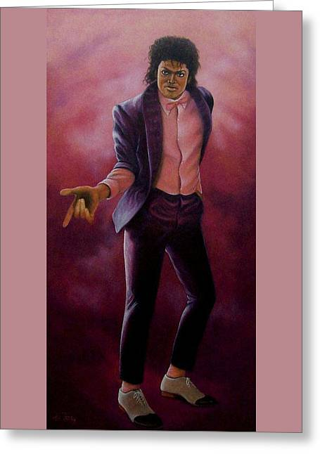 Michael Jackson-billy Jean Greeting Card