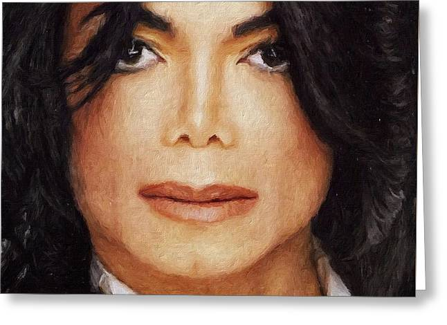 Michael Jackson Classic Portrait Greeting Card
