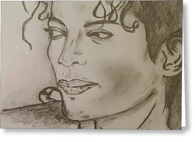 Michael Jackson Greeting Card by Collin A Clarke