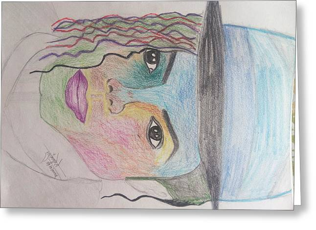 Michael Jackson Color Pencil Sketch Greeting Card by Shashank Morje