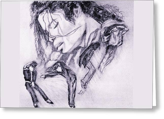 Michael Jackson Dance Greeting Card by Regina Brandt