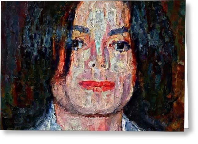 Michael Jackson Forever Greeting Card by Yury Malkov