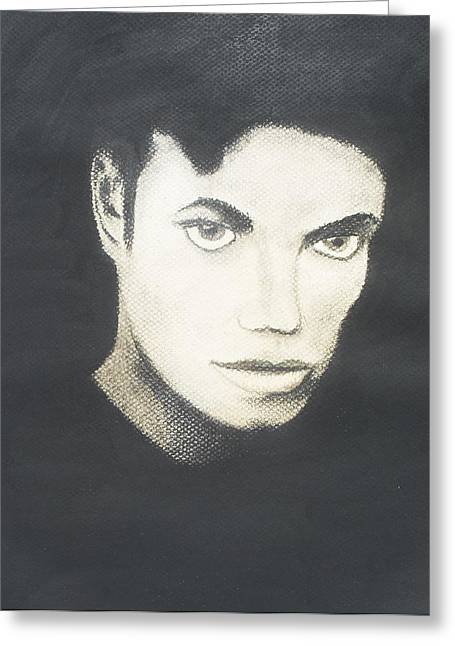 Michael Jackson Greeting Card by M Valeriano