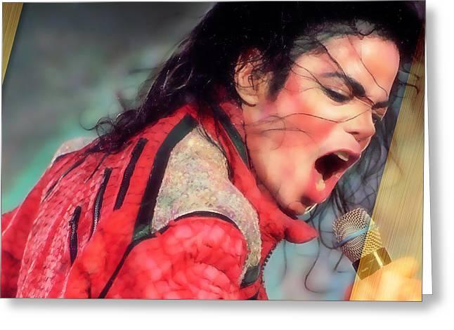 Michael Jackson King Of Pop Greeting Card