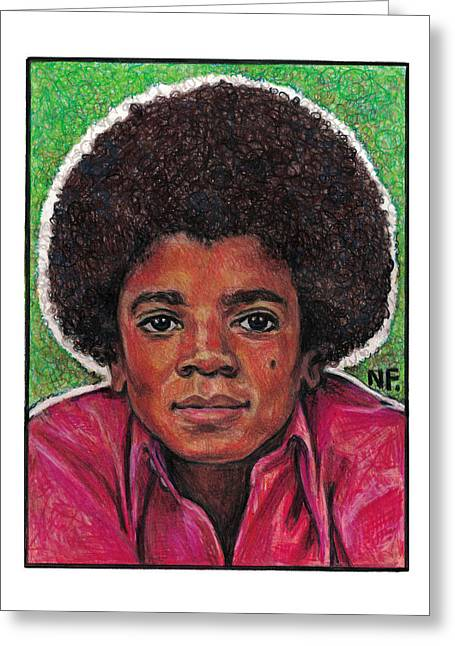 Michael Jackson Greeting Card by Neil Feigeles