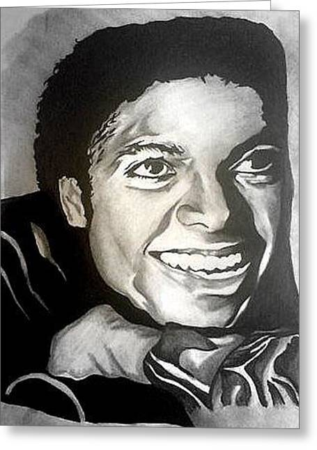 Michael Jackson Greeting Card by Pauline Murphy