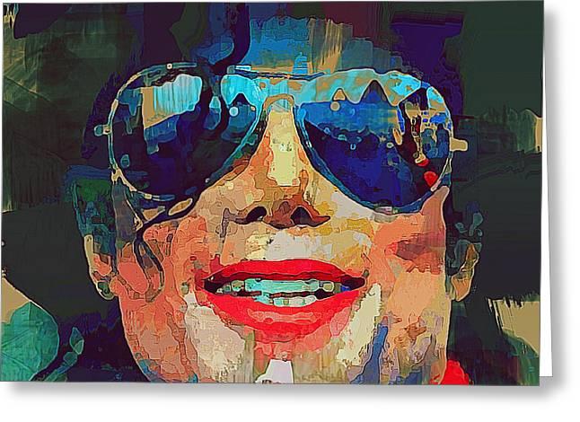 Michael Jackson Portrait 02 Greeting Card by Yury Malkov