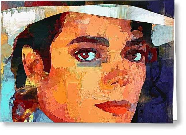 Michael Jackson Portrait 03 Greeting Card by Yury Malkov