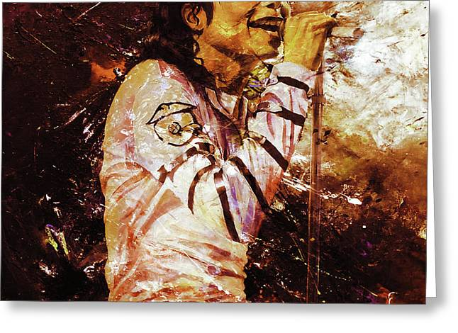 Michael Jackson Singer  Greeting Card by Gull G