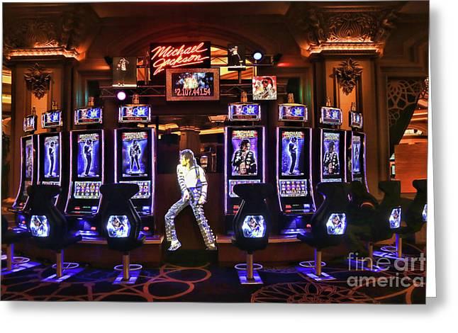 Michael Jackson Slots  Greeting Card by Chuck Kuhn