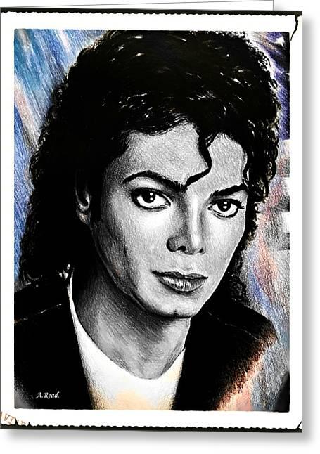 Michael Jackson Stamp Design Greeting Card