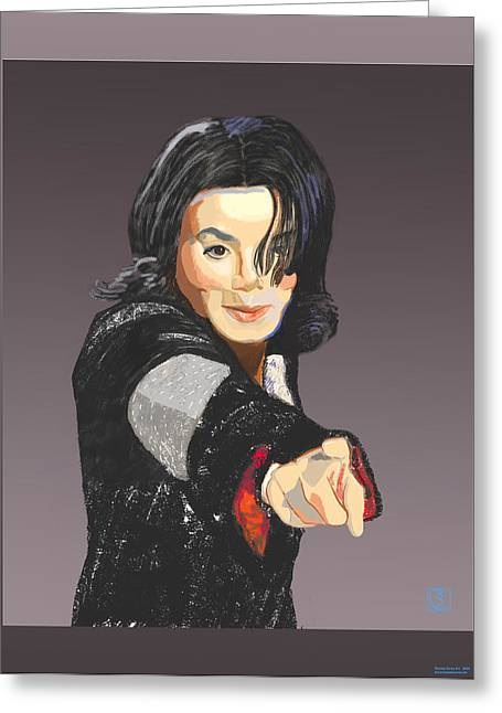 Michael Jackson Greeting Cards - Michael Jackson-Tell it like it is Greeting Card by Suzanne Giuriati-Cerny