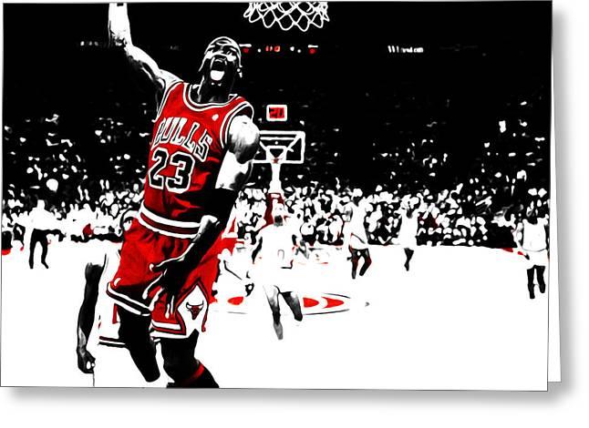 Michael Jordan 23e Greeting Card