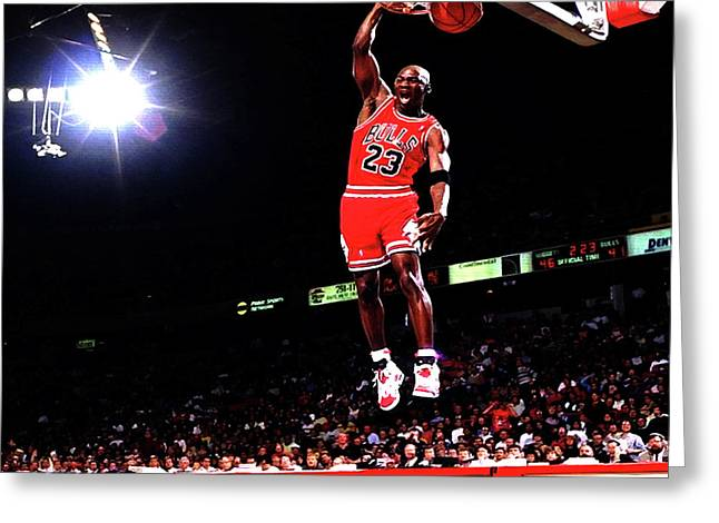 Michael Jordan 23f Greeting Card by Brian Reaves