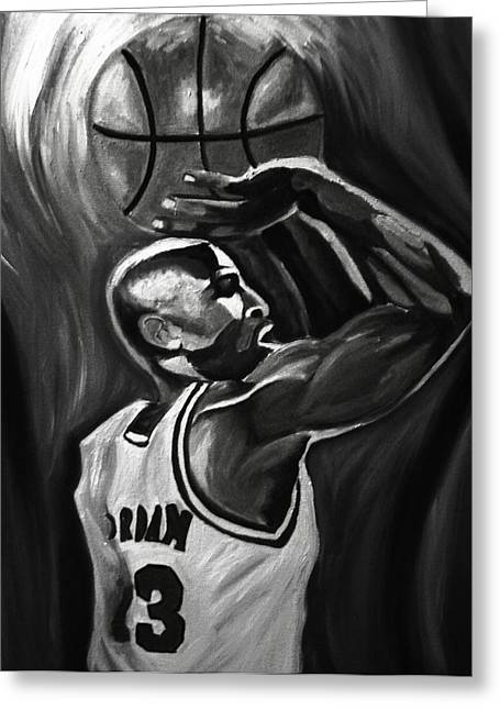 Michael Jordan 5 Greeting Card