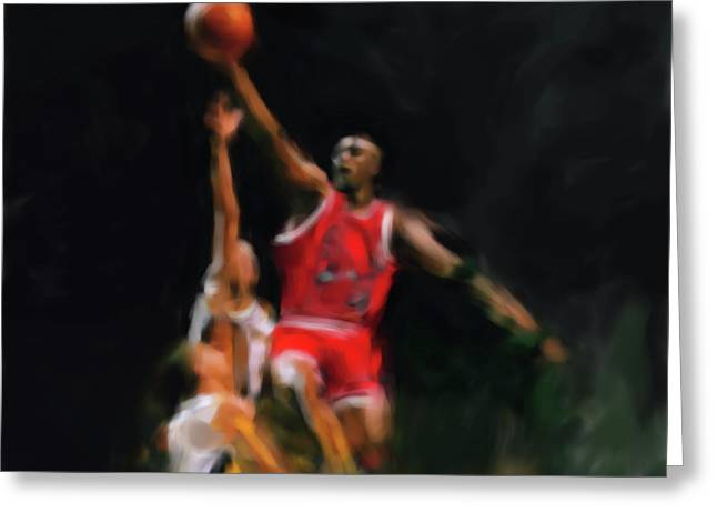 Michael Jordan 548 1 Greeting Card by Mawra Tahreem