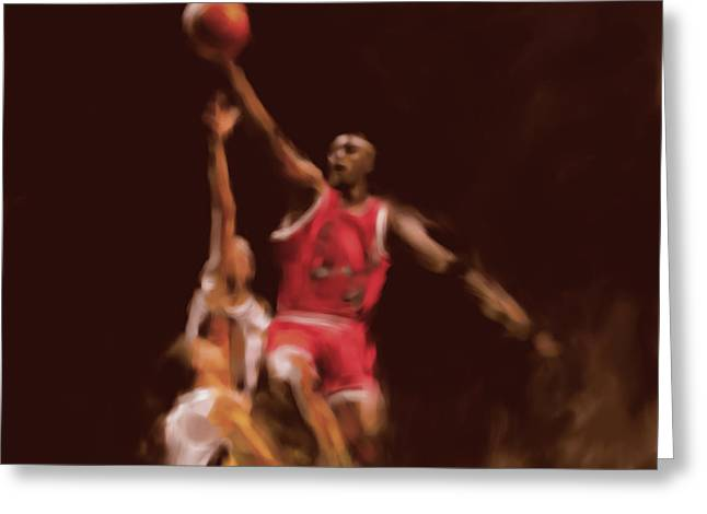 Michael Jordan 548 2 Greeting Card by Mawra Tahreem