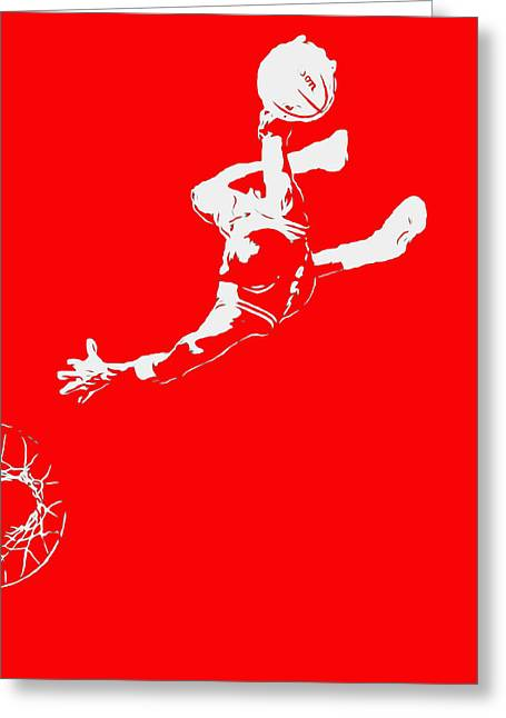 Michael Jordan Above The Rim 2 Greeting Card