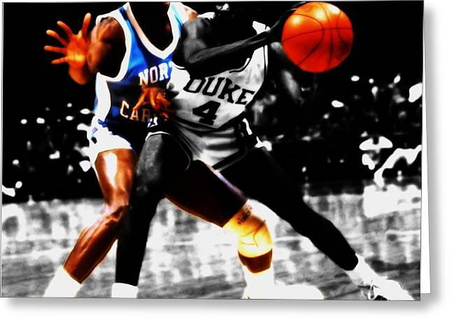 Michael Jordan As A Tarheel Greeting Card