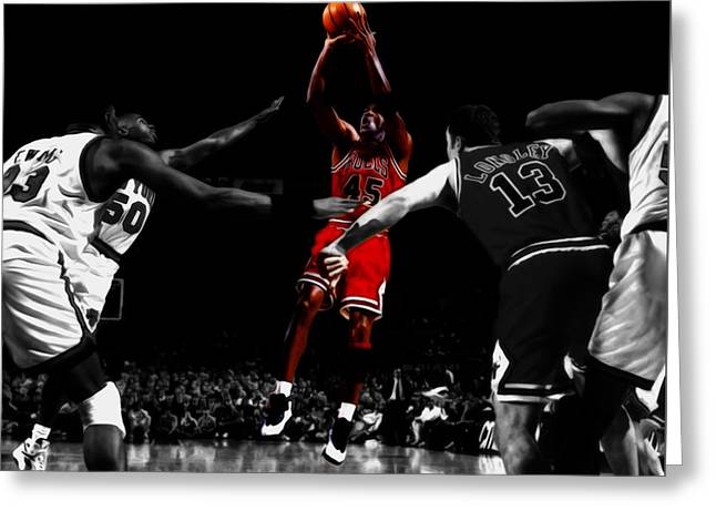 Michael Jordan Back From Retirement Greeting Card