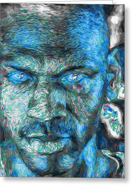 Michael Jordan Digital Painting 3 Greeting Card by David Haskett