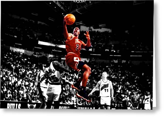 Michael Jordan Flight Path Greeting Card